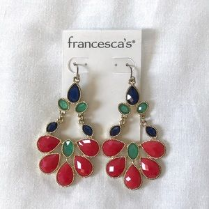 Francesca's colorful dangle earrings